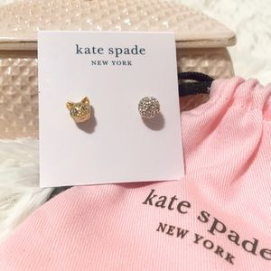 NWT Kate Spade house cat earrings